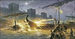 """""""Holy Fire"""" or """"Greek Fire"""" -  At the time, widely perceived as magic , and somewhat regarded as myth , the secret history of this Byzantine terror weapon is an example of myth-turned-fact due to historical record. But what of other myths?"""