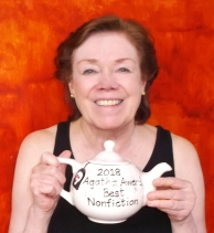 Jane with her 2018 teapot May 2019
